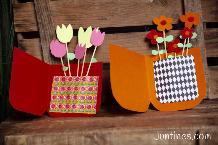 Tarjetas para el día de la madre, una manualidad para niños diy - mothers day cards easy todo at home for kids