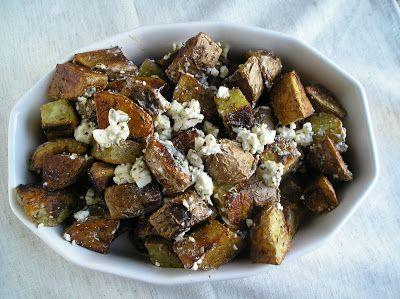 Greek Roasted Potatoes with Feta and Lemon