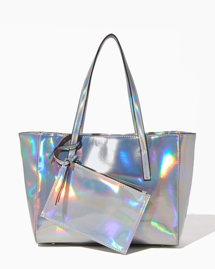 fcca98fe08db Charming charlie Holographic Wristlet & Tote | Holo EVERYTHING ...