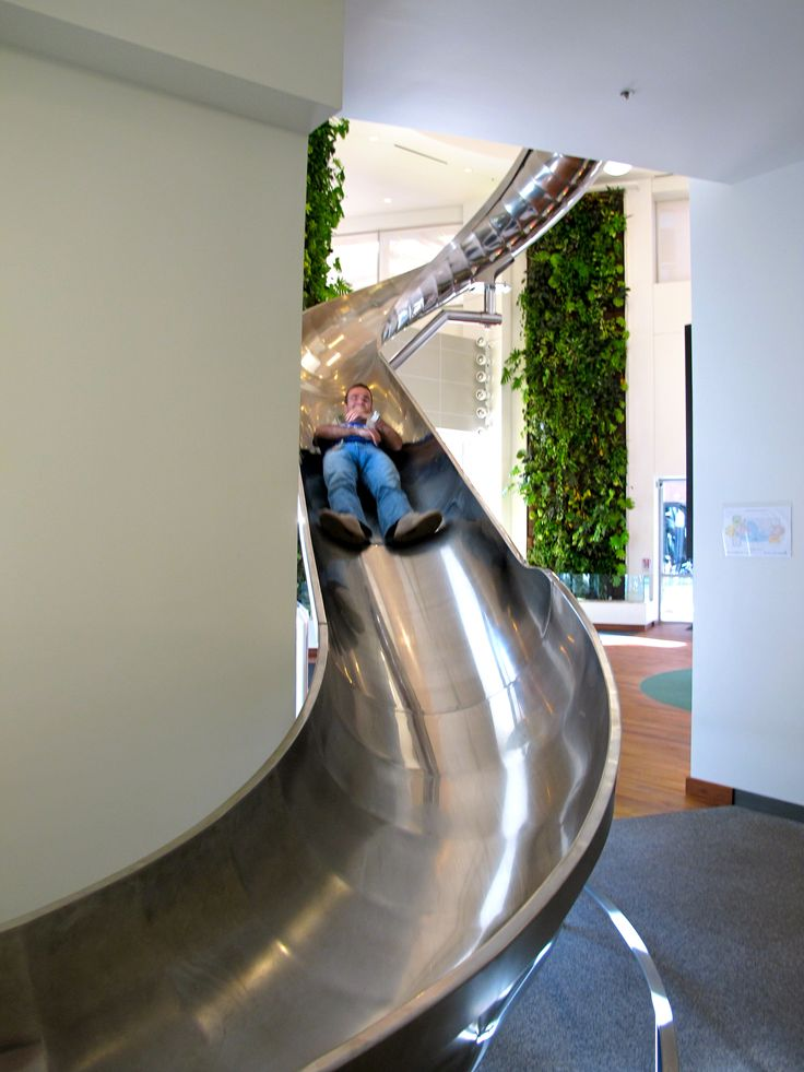 I think Art Unlimited needs a slide in the new office!