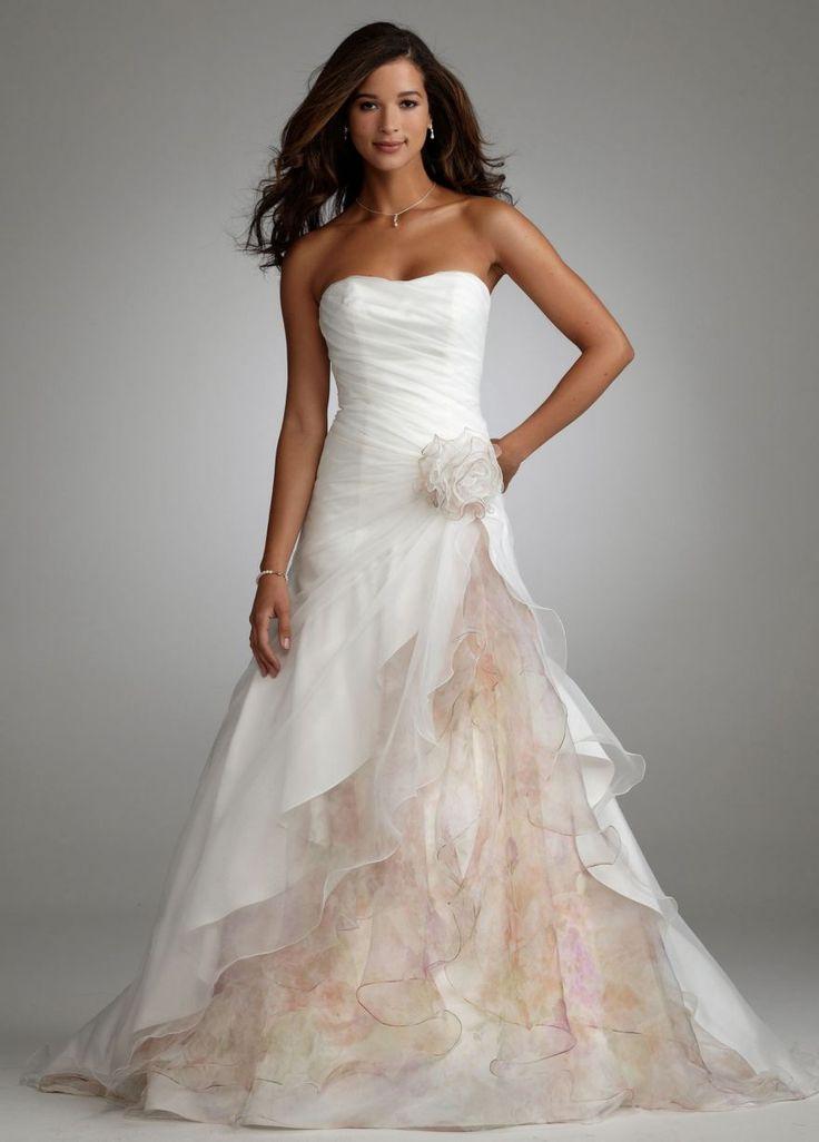 BEAUTIFUL !: David Bridal, Wedding Dressses, Floral Prints, Wedding Dresses, Color, Get Married, Dreams Dresses, The Dresses, Flower