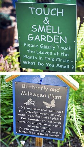 Garden Signs at The Children's Garden at Meadowlark Botanical Gardens