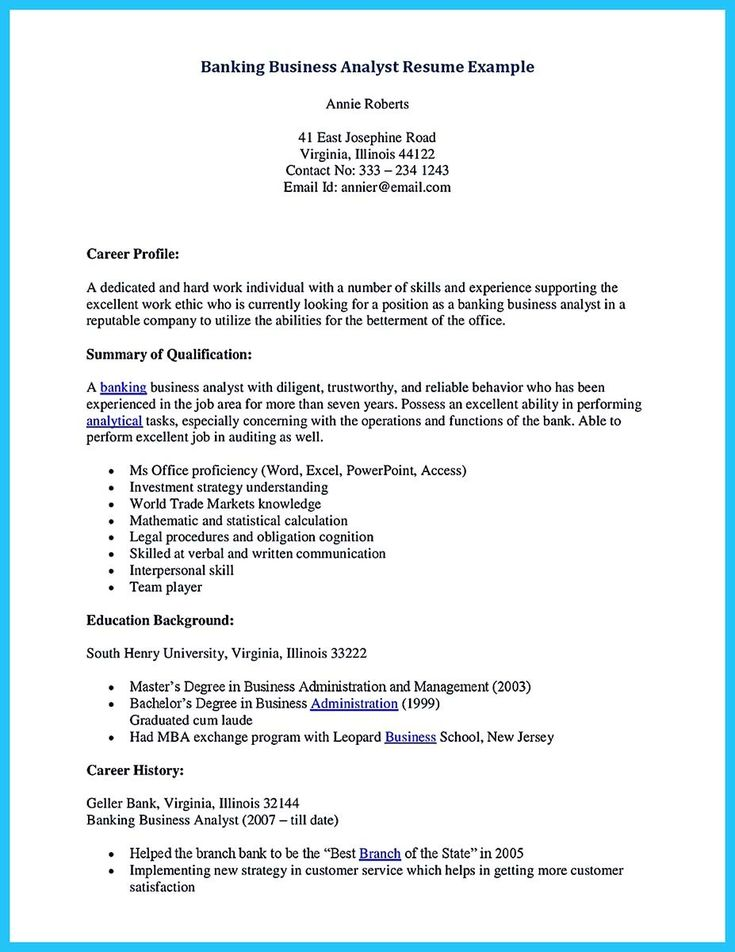 nice One of Recommended Banking Resume Examples to Learn,