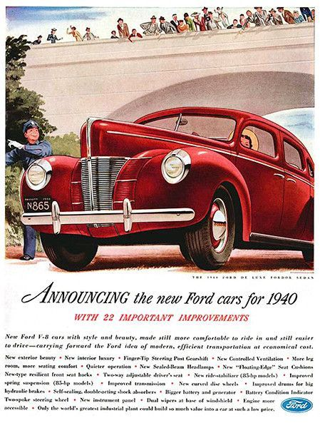 12 best plymouth car ads images on pinterest vintage cars car 1940 ford de luxe fordor sedan promotional advertising poster fandeluxe