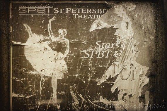 Ready to hang canvas photo St Petersburg Ballerina by shashamane