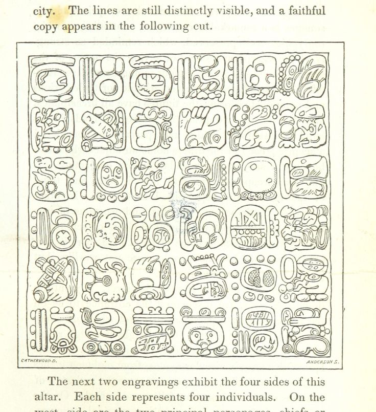 "Title: ""Incidents of Travel in Central America, Chiapas, and Yucatan ... Illustrated by numerous engravings"" Author: STEPHENS, John Lloyd. Shelfmark: ""British Library HMNTS 1431.h.15."", ""British Library HMNTS G.15779-80."" Page: 159 Place of Publishing: London Date of Publishing: 1841 https://www.flickr.com/photos/britishlibrary/11225004255/in/dateposted/  Использование похожих элементов с различными ИЗМЕНЕНИЯМИ дает возможность создать систему знаков"
