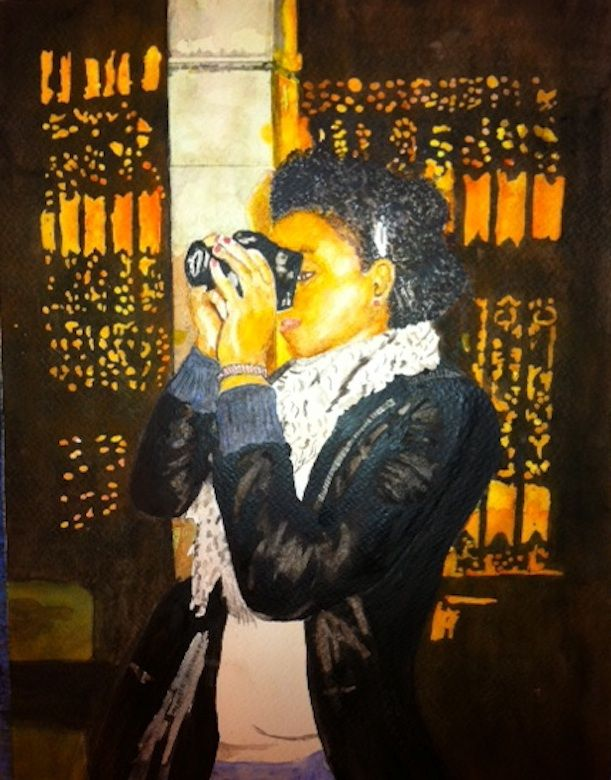 Meron:  Bright, articulate, focused and a force! She without a doubt a contributor to the 'light' in the world!                                   Private Collection