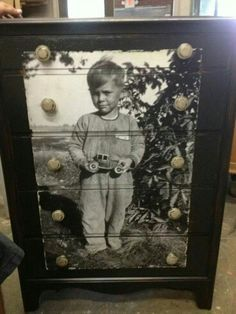This may be the best idea I have ever seen.. This photo is of a young boys grandfather. His Mom did this for her son who was named after his grandfather.