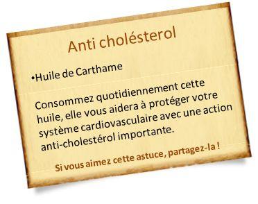 huile de carthame anti cholésterol