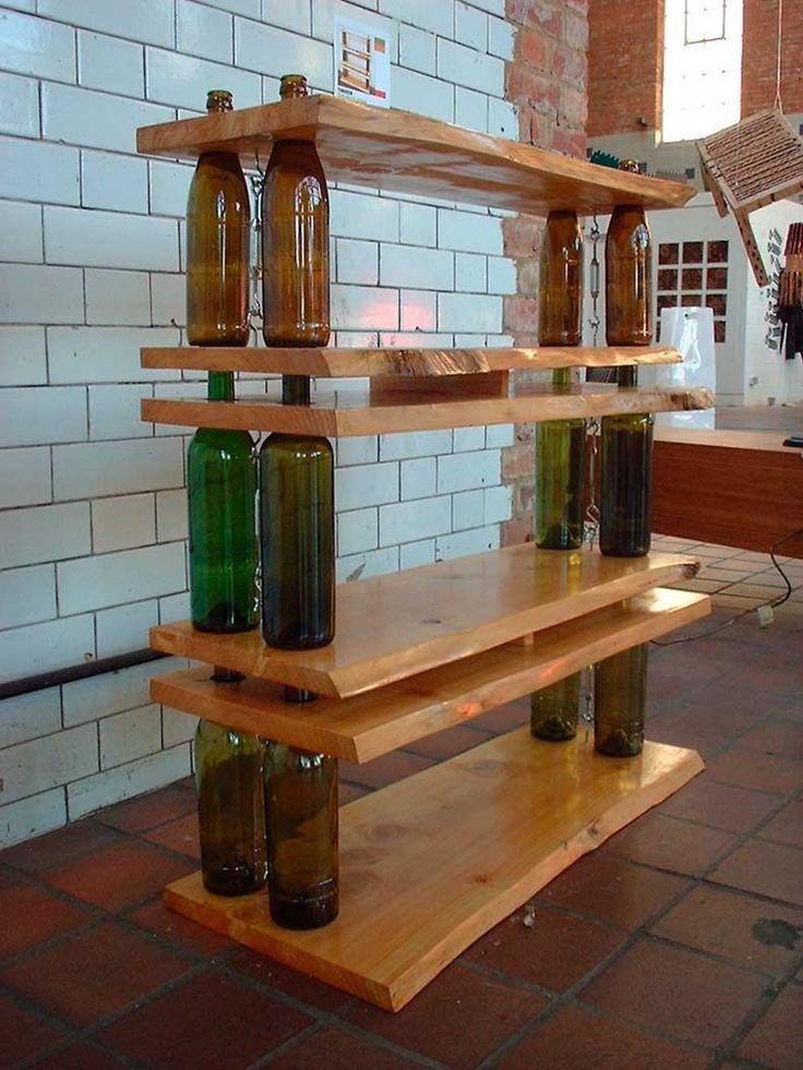 14 Ideas Para Decorar Con Botellas De Vino                                                                                                                                                                                 Más