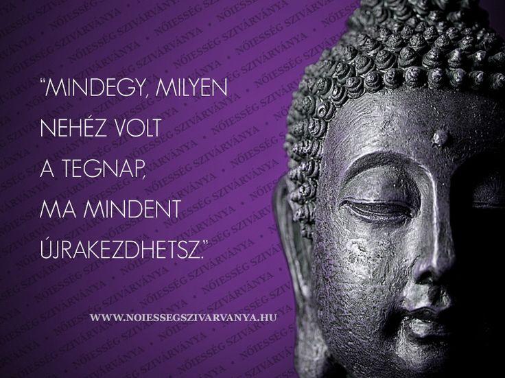 """""""Mindegy milyen nehéz volt a tegnap, ma mindent újrakezdhetsz."""" - Buddha"""