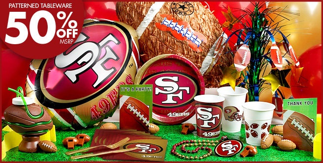 Birthday Ideas San Francisco NFL 49ers Party Supplies At City
