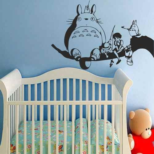 My Neighbor Totoro And Friends Spirited away Vinyl Wall Decal Baby Nursery Kids Room Decor(Black,m). High quality, grade matte vinyl, 100% Environmental-friendly for Vinyl decal. 100% Original and Excellent design from Decor Palace. Vinyl wall decal suitable for clean, smooth and flat surface, such as mirror, glass,interior & exterior wall, wooden door and so on. Do not apply for rough, uneven surface. Our vinyl decal is easy to remove and easy to peel. It is covered with the transfer...