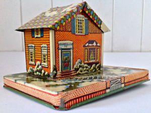 Antiquité 1940. Collection. Banque en tôle. US Metal Toy MFG USA