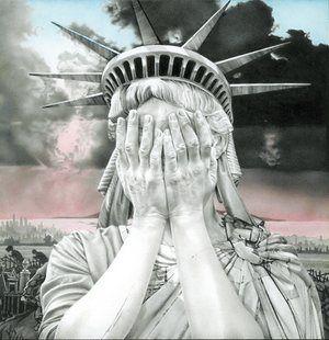 Gee Vaucher's Oh America: hip-hop artwork turned anti-Trump meme | Art and design | The Guardian