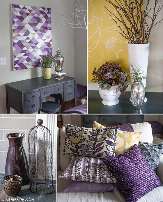 my plum infused living room house pinterest living room grey rh pinterest com