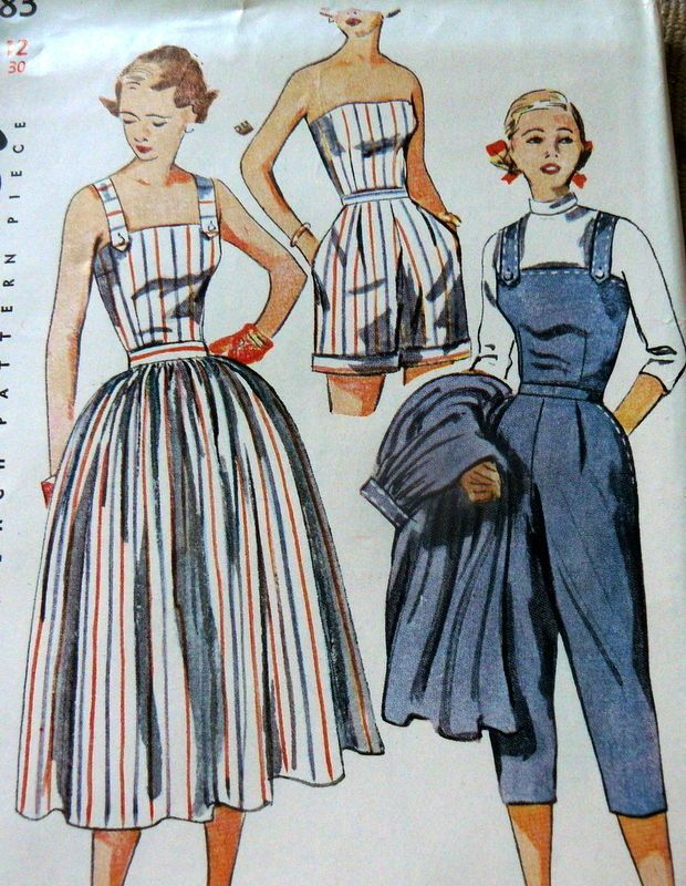 LOVELY VTG 1950s PLAYSUIT & SKIRT Sewing Pattern 12/30 10.5+1.99 6bds 11/10/14