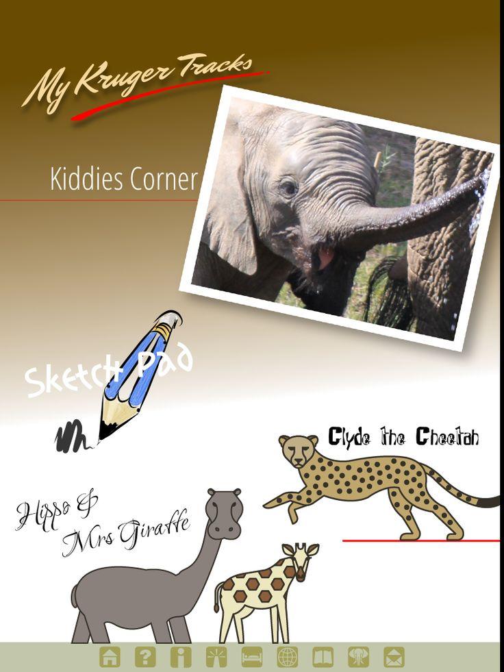 Kiddis corner page from Kruger Tracks App #krugertracks