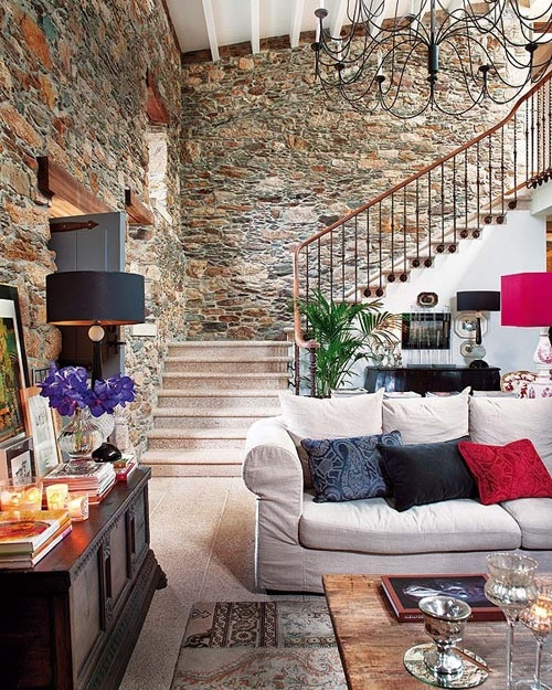 Fashion designer jorge vazquezs 300 year old house located in galicia spain is a living space with character where old and new pieces fit perfectly