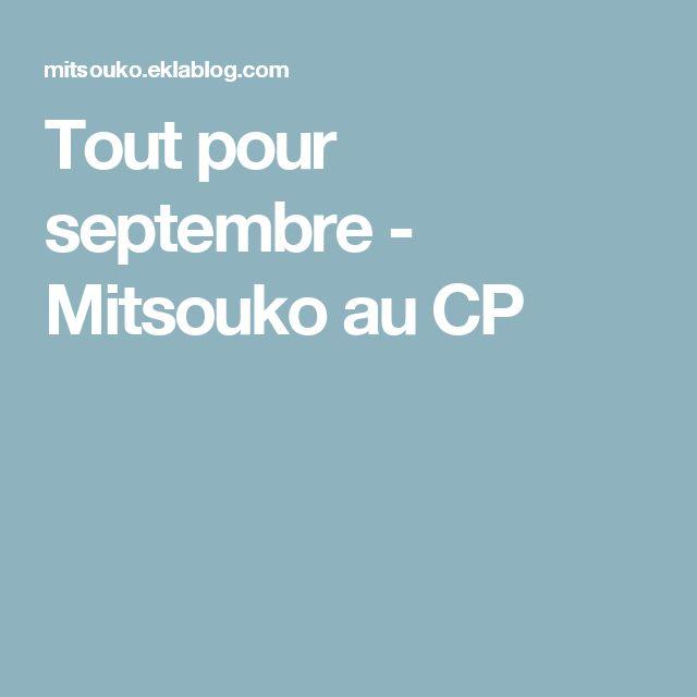 Tout pour septembre - Mitsouko au CP