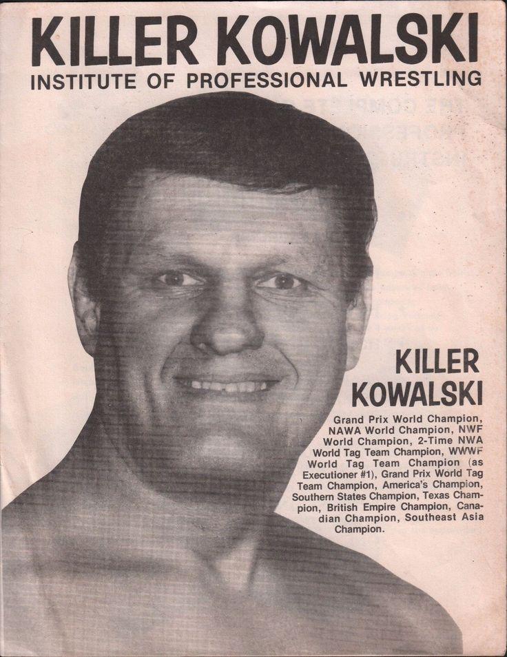 Killer Kowalski Institute of Professional Wrestling Pamphlet EX 122215DBE | eBay