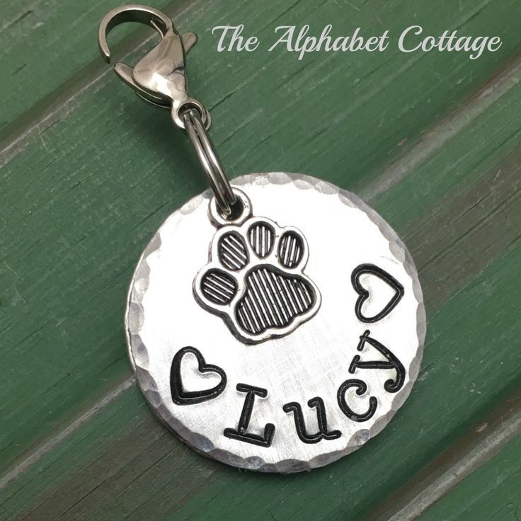 A personal favorite from my Etsy shop https://www.etsy.com/listing/457087620/pet-identity-name-tag-name-tag-for-dog