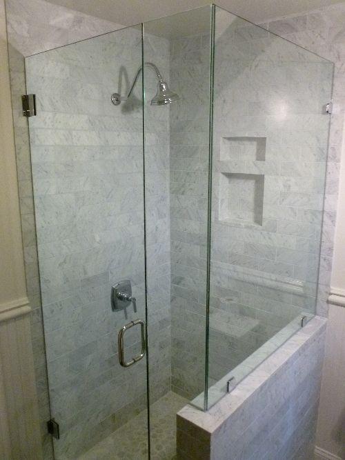 Corner Frameless Shower Enclosures die besten 25+ corner shower doors ideen auf pinterest
