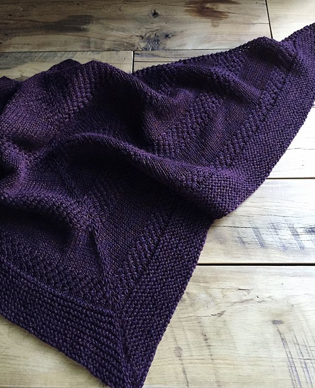 """To grandmother's house we go. This is Orlane's Textured Shawl. Really good notes and link to her """"recipe"""" since this pattern doesn't give much instruction."""