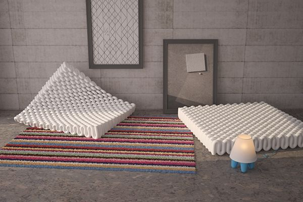 relaxation object of building insulation materials on Behance