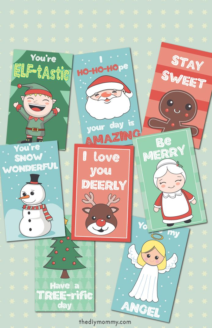 These Christmas Lunch Box Printables Are So Cute And A Free Download In 2020 Christmas Lunch Lunch Box Notes Free Christmas Printables