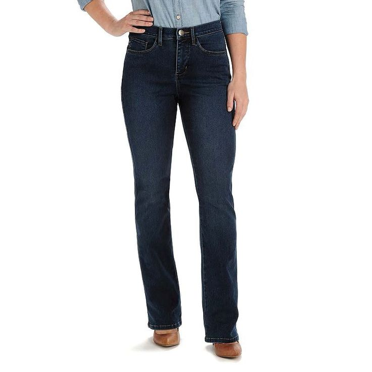 Petite Lee Easy Fit Bootcut Jeans, Women's, Size: 14P-Short, Dark Blue