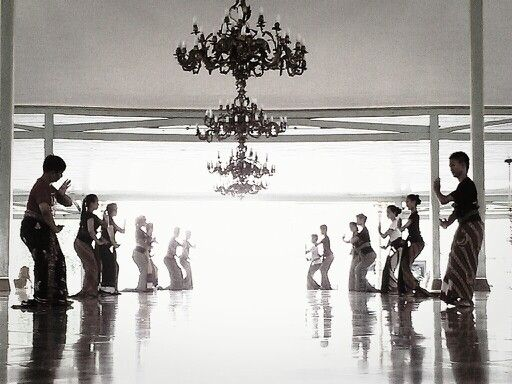 Java dance at mangkunegaran castle, surakarta