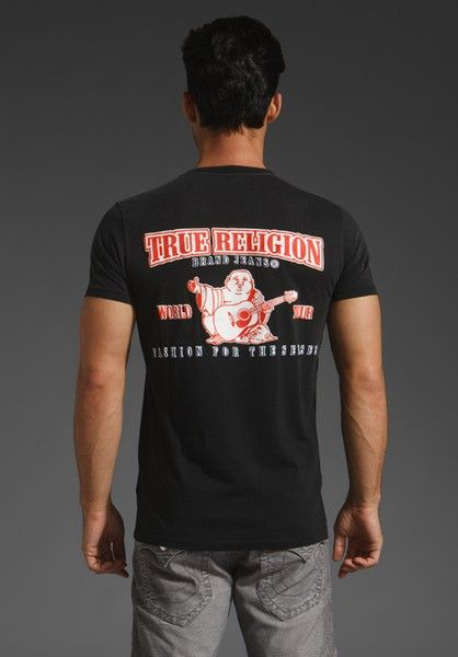 True Religion Brand Jeans Puff Guitar T-Shirt Cheap Online Shop Cheapest Price Cheap Price Buy Cheap Best Store To Get Outlet Great Deals SFJlQH
