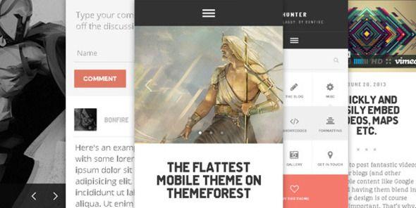 HUNTER - A flat & classy WP theme, by Bonfire. - Mobile WordPress