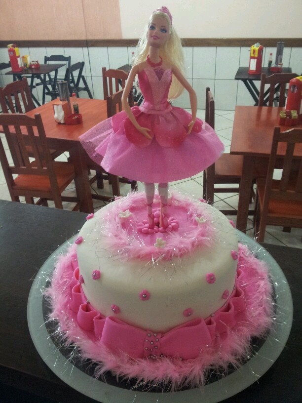 Bolo Boneca Barbie Bailarina Cris Lanches Pinterest