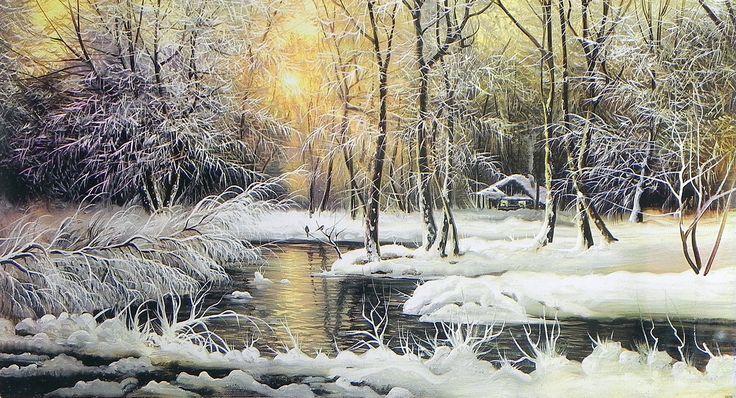 Winter Landscape (Reprint on Paper - Unframed)