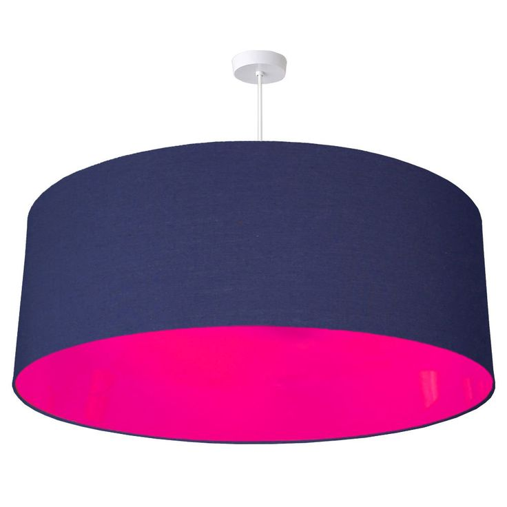 70cm neon pink lined fabric drum lampshade 40 colours