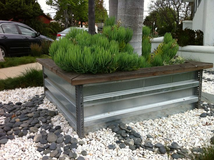 Cool Stainless Steel And Angle Iron Planter Box Spaces