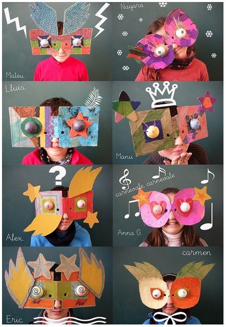Kids can have so much fun with masks! Check these out next time the kids cry bored!