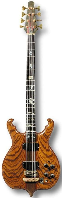 "[ƒrettedchordophone 2015] Alembic ""Scorpion"" 8-String Bass --- https://www.pinterest.com/lardyfatboy/"