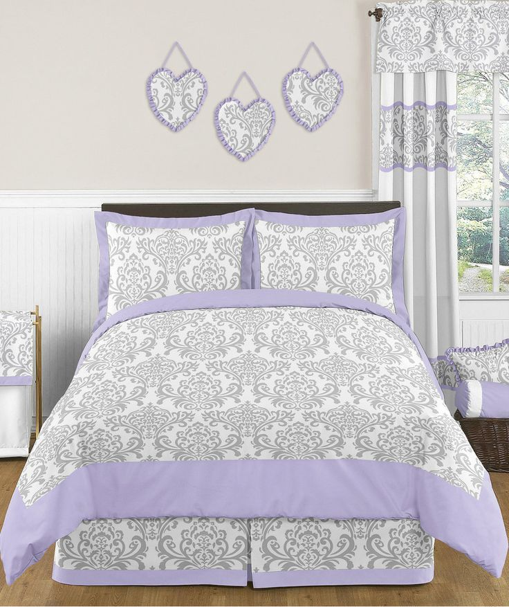 17 Best Ideas About Purple And Grey Bedding On Pinterest