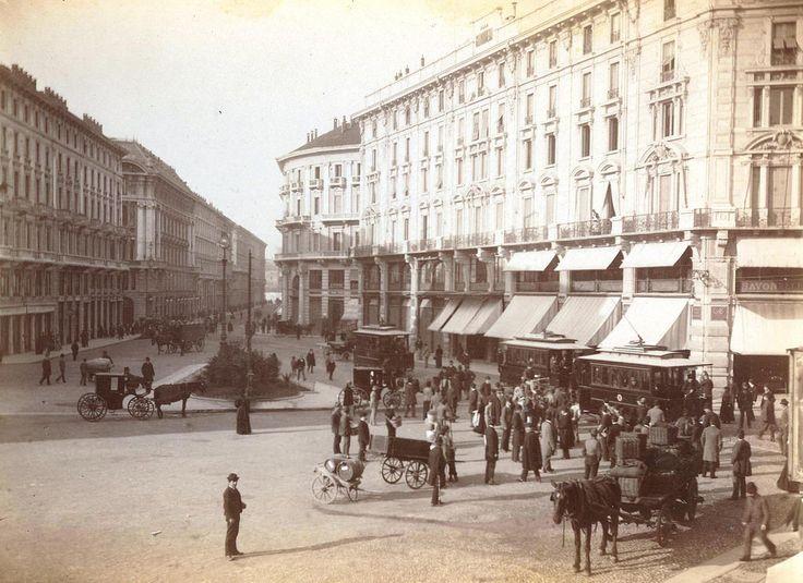 2 novembre 1893 - primo viaggio tram elettrico in piazza Cordusio | da Milàn l'era inscì
