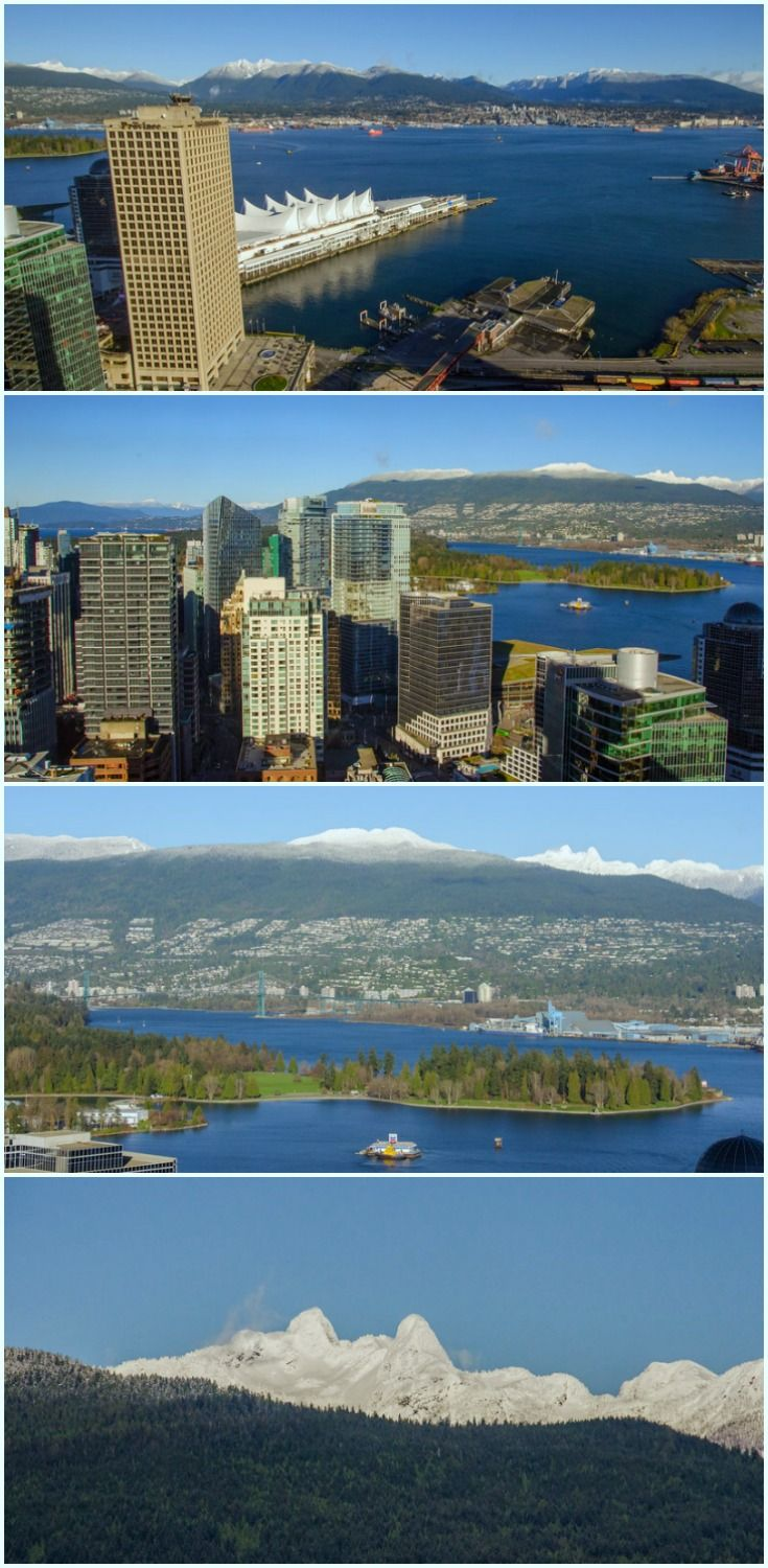 The Best Views of Vancouver: The Vancouver Lookout at the top ot the Harbour Centre tower gives you a panoramic view of the city, Stanley Park, and snow-capped peaks // Winter in Vancouver, BC