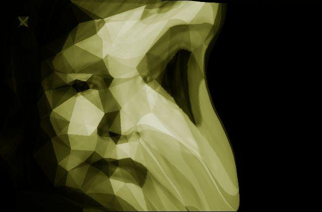 Dit vind ik mijn beste ontwerp er gebeurt iets met het beeld en ze is verdrietig omdat er gezicht is verminkt