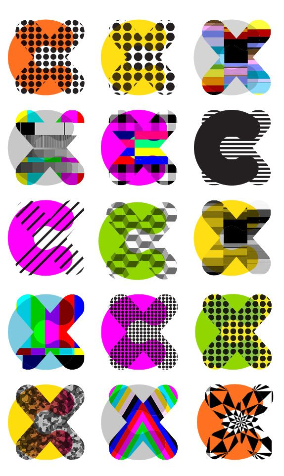 CX by Moving Brands / The visual identity system was driven by the important relationship between the copy and graphic language. The vibrant core assets are complemented by a library of color and pattern elements. A bespoke typeface was created that includes a built-in open-type iconographic system / #flexible