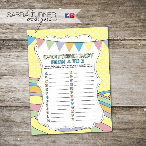 INSTANT DOWN LOAD  Baby Shower Game Oh the by SabraTurnerDesigns