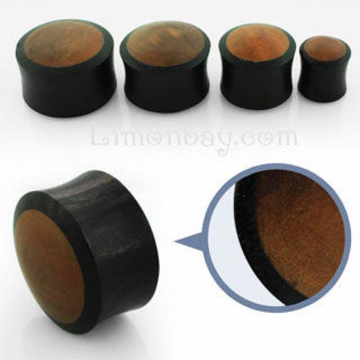 Dilatación de madera de ébano y teka en doble capa. Varios tamaños. Comprar dilataciones online? En Limonbay! Tu tienda de piercings online, 3.81