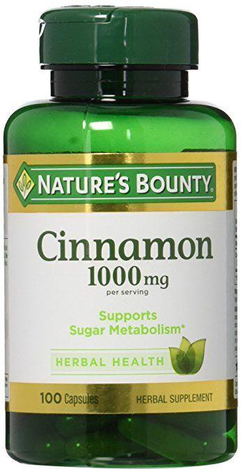 Nature's Bounty Cinnamon 1000 mg Capsules 100 ea ( Pack of 2)