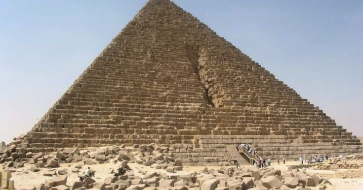 The Pyramid of Menkaure  The last of the three older pyramids at Giza is the one connected with Menkaure. In one of the chambers on an arch was false the name Menkaure. Menkaure's Pyramid had an particular height of 65.5 meters (215 ft) and was the tightest of the three leading pyramids at the Giza Necropolis. It now stands at 61 m (204 ft) tall with a base of 108.5 m. Its angle of incline is about 5120 25?. It was constructed of limestone and granite. The first sixteen trends of the…