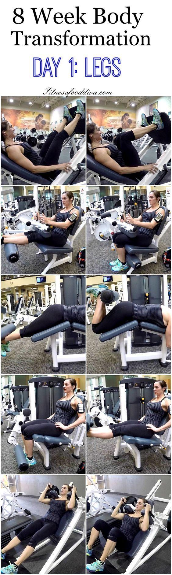 8 Week Body Transformation Day 1: LEGS